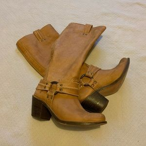 Frye Carmen Harness Leather Boot 7.5